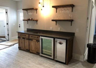 residential custom wood bar
