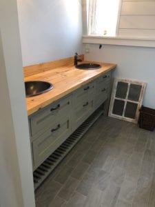residential custom wood vanity