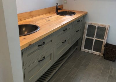 residential custom wood vanity