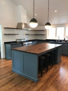 custom walnut kitchen island boston