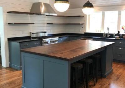 custom walnut kitchen island boston