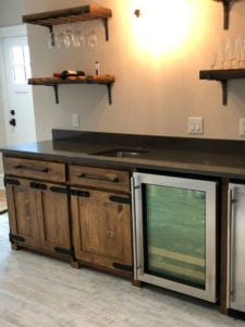 residential custom wood bar